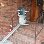 Outdoor Stairlift Installed on Long Island