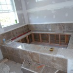 Nassau Installed jetted bathtub