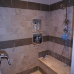 Long Island Shower with Bench