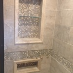 Shower Shelf with Gorgeous Tile Work