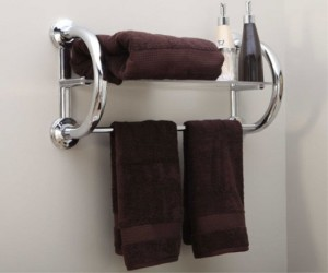 Grab Bar with Built In Shelf