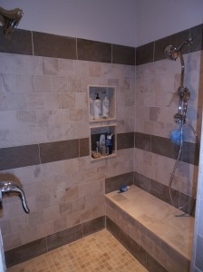 Shower with bench Long Island